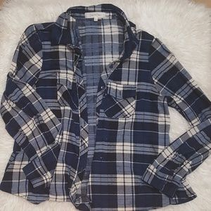 Tops - Blue and black flannel